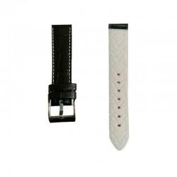 Kožni kaiš Diloy DIL420.22.1.22 (Crna boja sa belim štepom)
