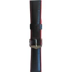 Silikonski kaiš - SK43 Crna boja 22mm (Silikonski/Kožni)