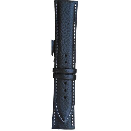 Kožni kaiš 22mm Crna boja 22.51