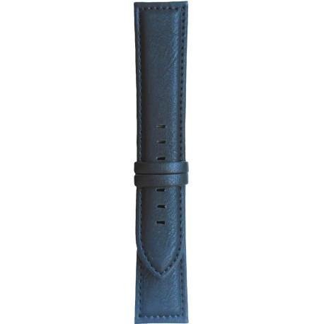Kožni kaiš 22mm (Eko koža) Crna boja 22.39