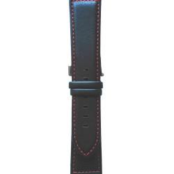 Kožni kaiš 20mm (Eko koža) Crna boja 20.62