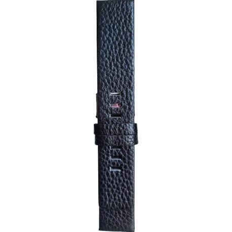 Kožni kaiš 24mm Crna boja 24.114