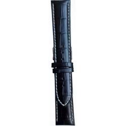 Kožni kaiš 22mm Crna boja 22.154