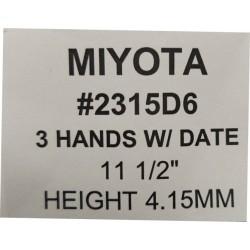 Ključ za MIYOTA 2315D6