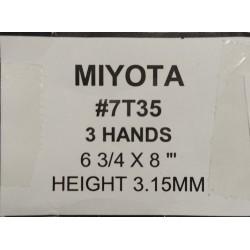 Ključ za MIYOTA 7T35