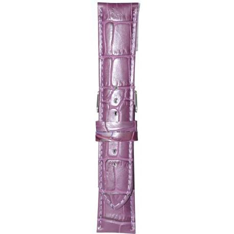 Kožni kaiš 22mm Ljubičasta boja 22.179