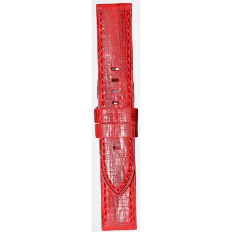 Kožni kaiš 22mm Crvena boja 22.183
