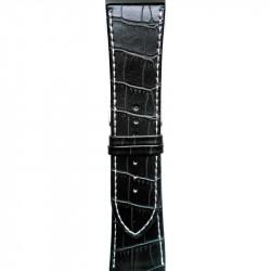 Kožni kaiš 20mm (Eko koža) Crna boja 20.28