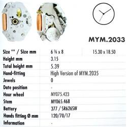 MIYOTA 2033
