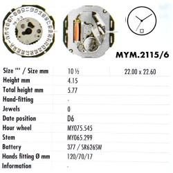 MIYOTA 2115 - D6