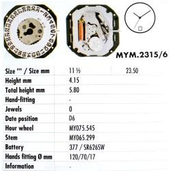 MIYOTA 2315 - D6