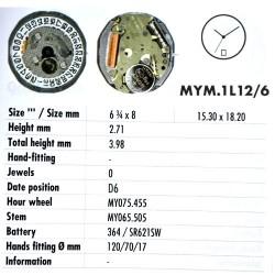 MIYOTA 1L12 D6