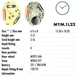 MIYOTA 1L22