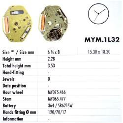MIYOTA 1L32