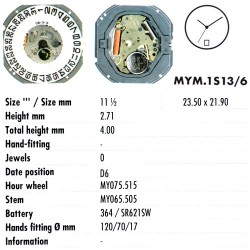 MIYOTA 1S13 - D6