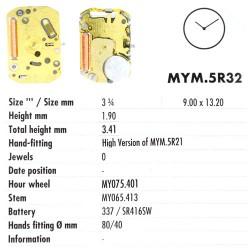 MIYOTA 5R32