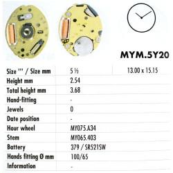 MIYOTA 5Y20