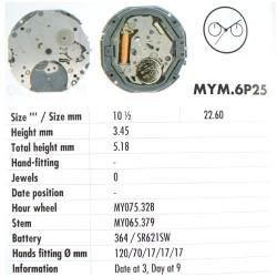MIYOTA 6P25