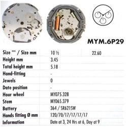 MIYOTA 6P29
