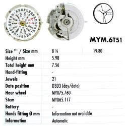 MIYOTA 6T51