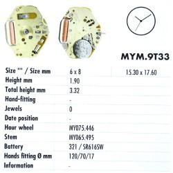 MIYOTA 9T33