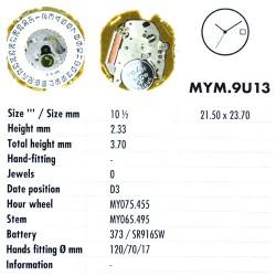 MIYOTA 9U13