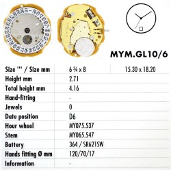 MIYOTA GL10 - D6