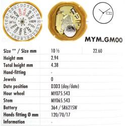 MIYOTA GM00
