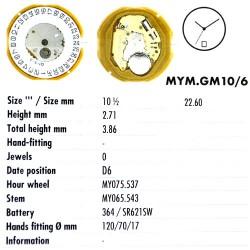 MIYOTA GM10 - D6