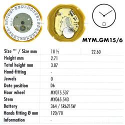 MIYOTA GM15 - D6