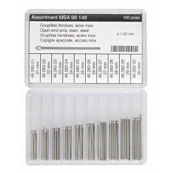 Horotec set iglica za metalne kaiševe 100 komada, Ø 1.20 mm